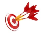 15734538-dart-hitting-a-target-isolated-on-white